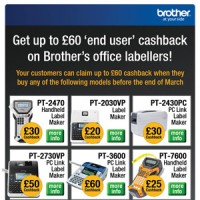 JGBM – Brother 'end user' promotions