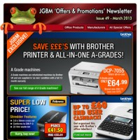 JGBM – Huge Savings with Brother A-Grades!