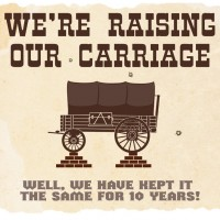 Carriage, unchanged for 10 years!
